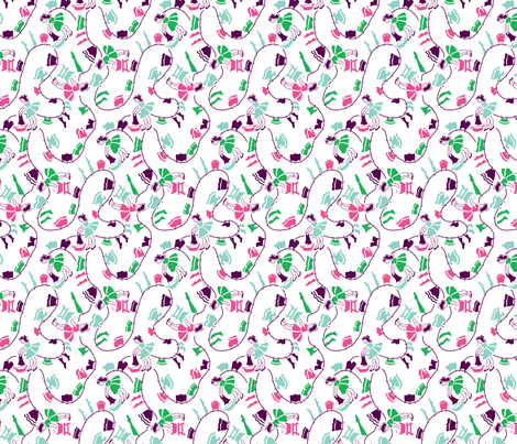 Washday Feedsack fabric by tuppencehapenny on Spoonflower - custom fabric