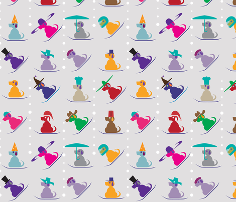 Dogs Hat Party fabric by kgalal on Spoonflower - custom fabric