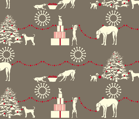 Decorating Team - ( zoom is so necessary!)  fabric by newmomdesigns on Spoonflower - custom fabric