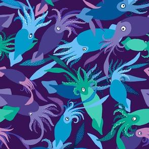Squid-DeepDark-Sea