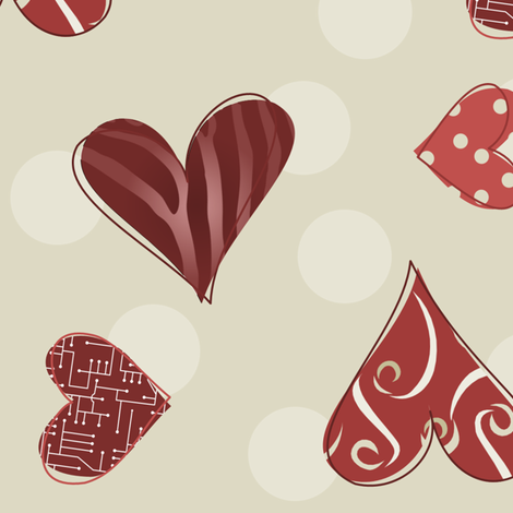 Have a Heart 004 fabric by lowa84 on Spoonflower - custom fabric
