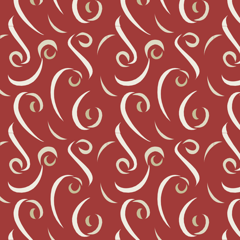 red ribbons fabric by lowa84 on Spoonflower - custom fabric