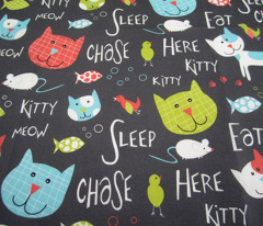 Here Kitty Kitty - Whimsical Cats & Typography