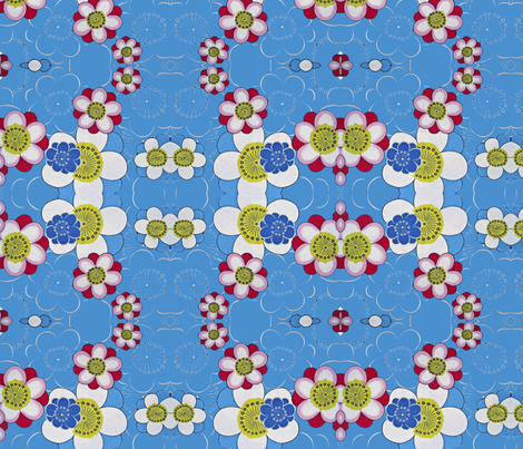 blommor3 fabric by snork on Spoonflower - custom fabric