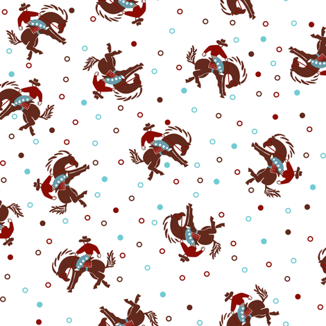 Bronkin' Bucko fabric by tuppencehapenny on Spoonflower - custom fabric