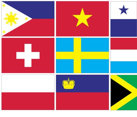International Flag Bunting #3 fabric by pixeldust on Spoonflower - custom fabric