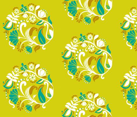 botanical fabric by renule on Spoonflower - custom fabric