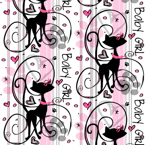 My_sweet_love #1 / baby girl paw prints fabric by paragonstudios on Spoonflower - custom fabric