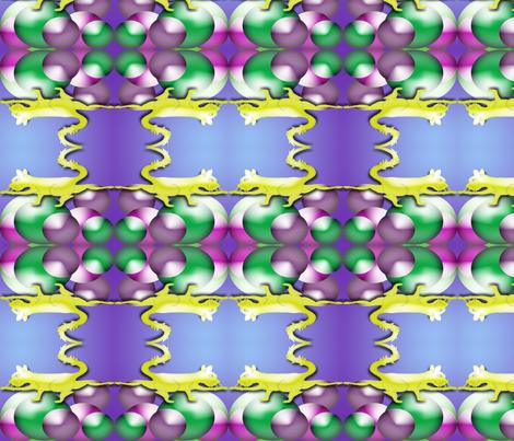 Cat_on_BallsMerged fabric by kikcaryn on Spoonflower - custom fabric