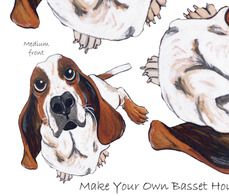 Make Your Own Basset Hound Pillows fabric by asilo on Spoonflower - custom fabric