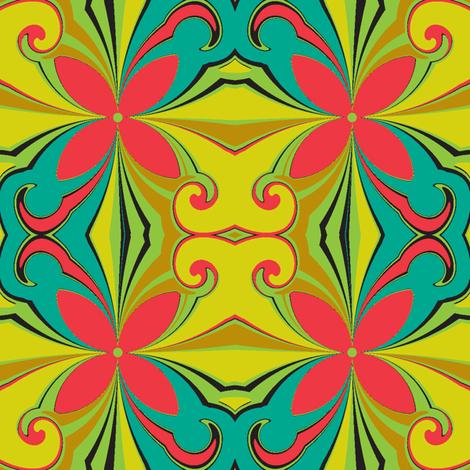 A Swirl Of Life Botanical fabric by grannynan on Spoonflower - custom fabric