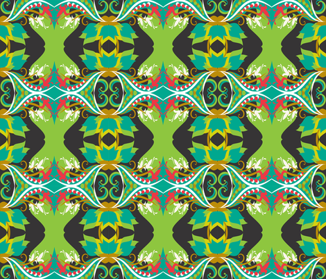 Large_Botanical_30s_40s_style fabric by rainlongson-artist on Spoonflower - custom fabric