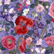 Poppies & Sweet Peas