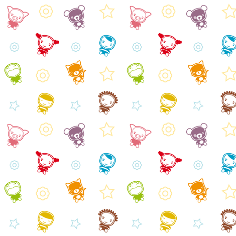 Ollipoppies_Happy fabric by ollipoppies on Spoonflower - custom fabric