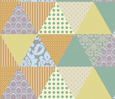 Fake quilt triangles fabric by ravynka on Spoonflower - custom fabric