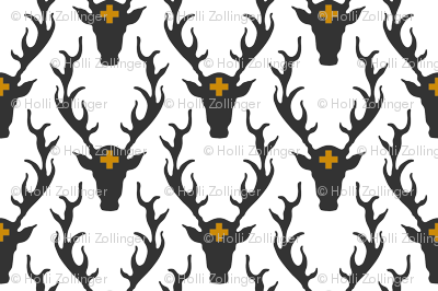 deer head grey