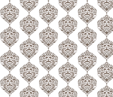 teardop_sepia fabric by holli_zollinger on Spoonflower - custom fabric