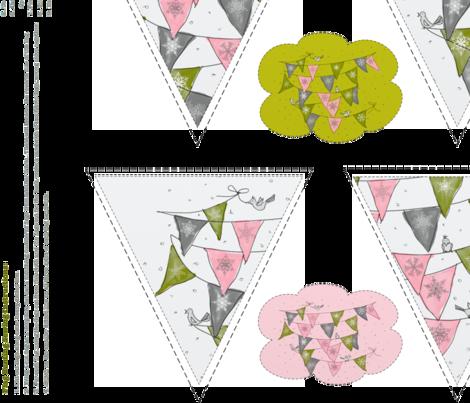 SewingGeek BUNTING PATTERN fabric by marywalker on Spoonflower - custom fabric