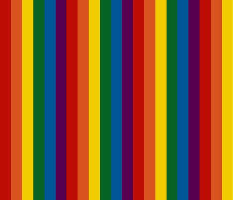 Rainbow 1 inch vertical stripes fabric annaleeblysse spoonflower for Rainbow color stripe watch