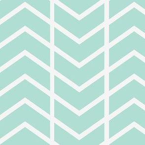 chevron stripe mint