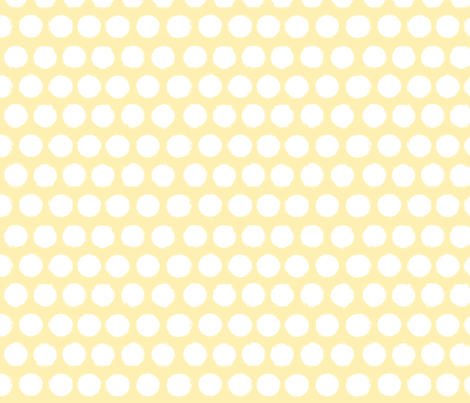 Lemon Dream Dots fabric by kiniart on Spoonflower - custom fabric