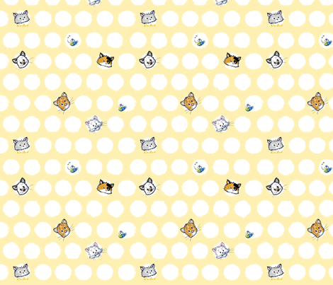 Kini Cats fabric by kiniart on Spoonflower - custom fabric