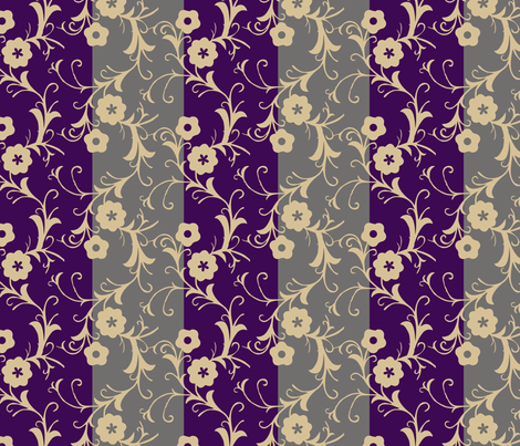 Modern Folk Flowers - Stripes fabric by renule on Spoonflower - custom fabric