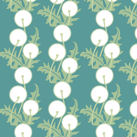 dandelion_pattern fabric by cindylindgren on Spoonflower - custom fabric