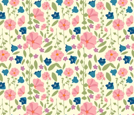 Bright Flower Garden fabric by marlene_pixley on Spoonflower - custom fabric