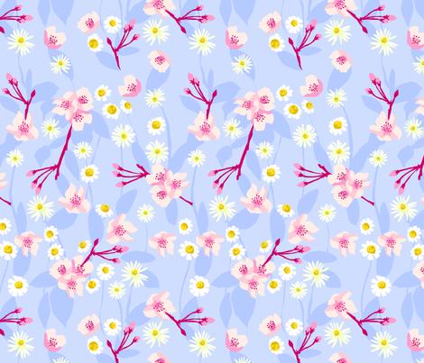 Daisy Apple Blossom fabric by marlene_pixley on Spoonflower - custom fabric