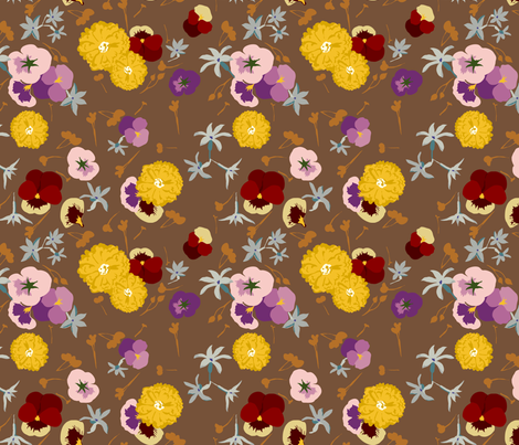 Edible Flowers fabric by marlene_pixley on Spoonflower - custom fabric
