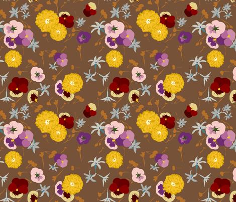 Edible Flowers fabric by marlene_pixley on Spoonflower - custom fabric