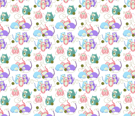 3 little kittens who lost their mittens fabric by vo_aka_virginiao on Spoonflower - custom fabric