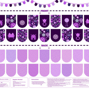 Banner/Bunting Kit - Purples