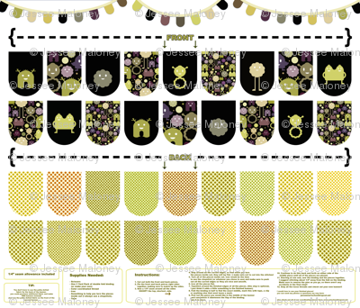 Banner/Bunting Kit - Black, Green and Purple