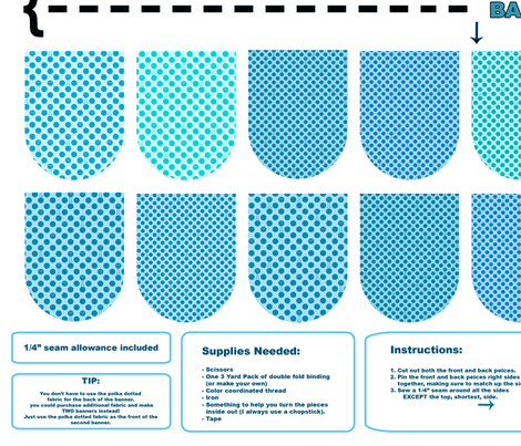 Banner/Bunting Kit - Blues fabric by jesseesuem on Spoonflower - custom fabric