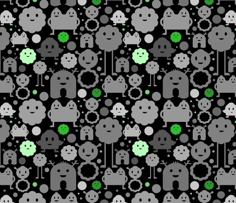 Rmonsters_allover_001_black_coraline_green_shop_preview