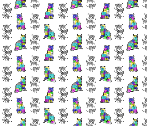 CalicoCats fabric by patters on Spoonflower - custom fabric
