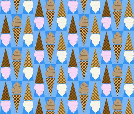 Ice Cream Cones fabric by poetryqn on Spoonflower - custom fabric