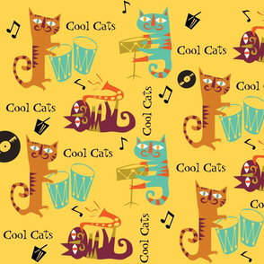 Retro Cool Jazzy Cats