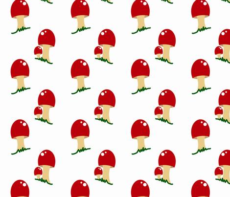 Mushroom Goodness fabric by jasmilly on Spoonflower - custom fabric