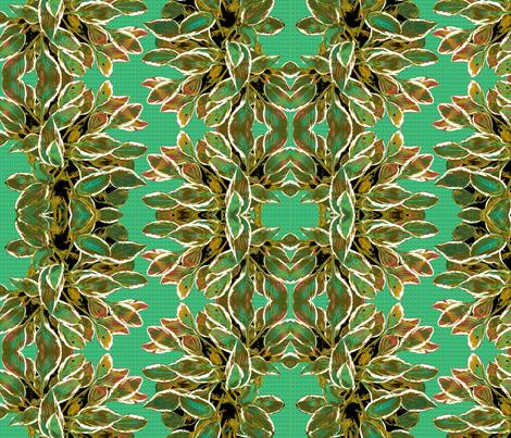 Hosta Waltz - Limited Palette fabric by haleystudio on Spoonflower - custom fabric