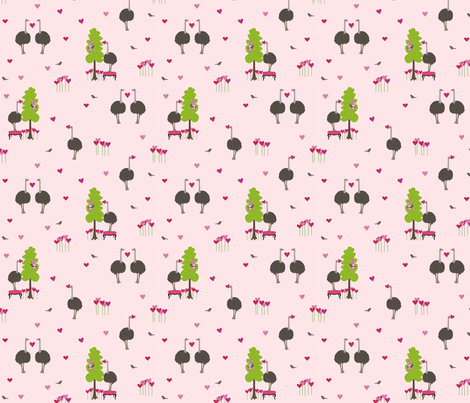 Ostrich_Fabric fabric by lauriewisbrun on Spoonflower - custom fabric