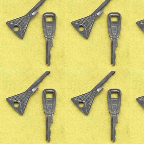 Edsel Car Keys on yellow fabric by edsel2084 on Spoonflower - custom fabric