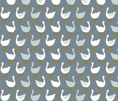 Winter ducks fabric by renule on Spoonflower - custom fabric