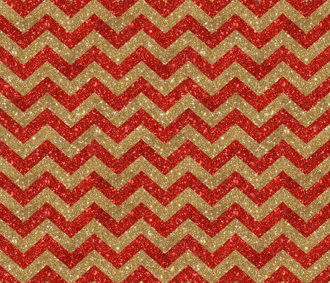 Glitter Chevron Red and Gold fabric by cynthiafrenette on Spoonflower - custom fabric