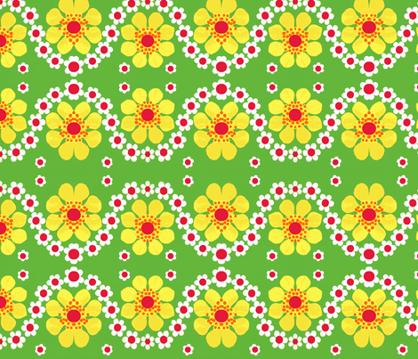 big retro flowers fabric by snork on Spoonflower - custom fabric