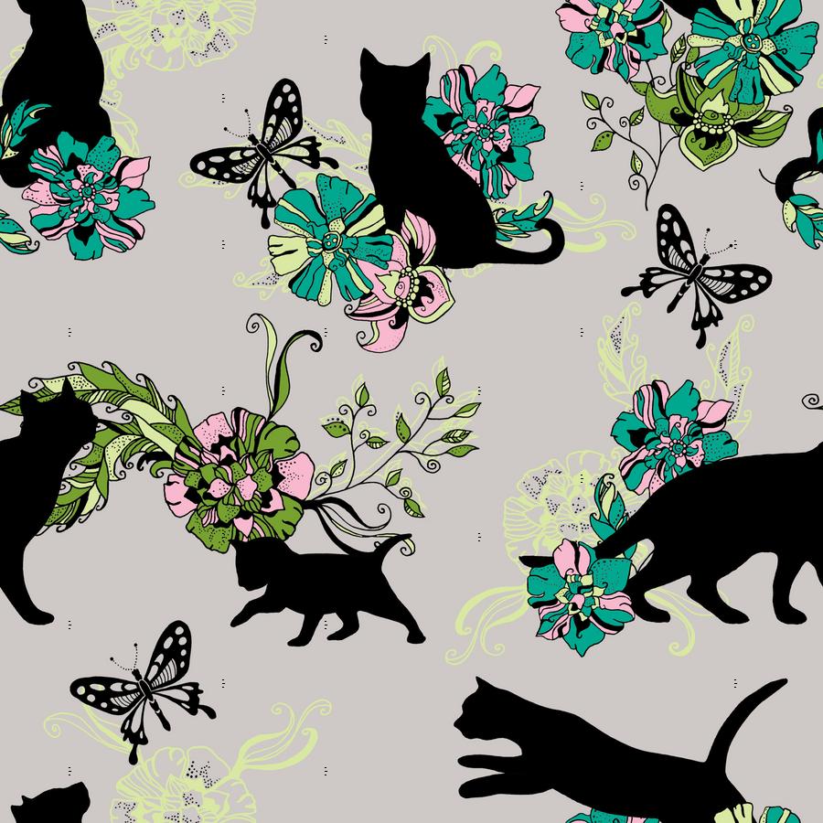 Best Wallpaper Cat Butterfly - rrrrcats_12inch_butterflies_copy_tile_spoon_highres  2018_194758 .png
