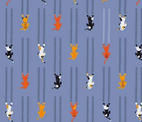 manche KATZEn KrATZEn - some CATs sCrATch fabric by annosch on Spoonflower - custom fabric