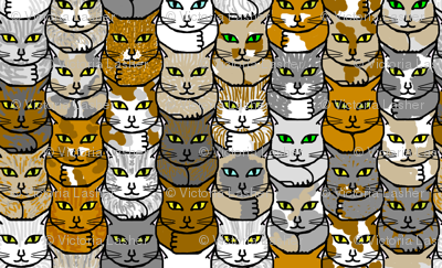Kitties - that's elation! (view in swatch for detail)